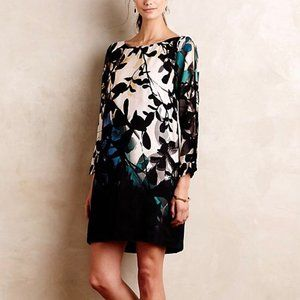 2/$25 Maeve • Shaded Garden Floral Tunic Dress